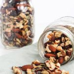 This Heart Healthy Trail mix makes about 15 servings, is low in sodium and high in antioxidants! Great for snacks or a road trip.  | Mealswithmaggie.com #hearthealthy #lowsodium #mealsprep #trailmix #healthytrailmix #pepitas #almonds #mixednuts