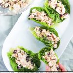 chicken salad in lettuce cups.