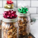 healthy granola in mason jar as a gift