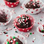 chocolate peppermint with sprinkles