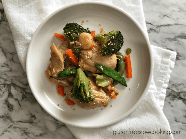chicken and vegetables on a plate