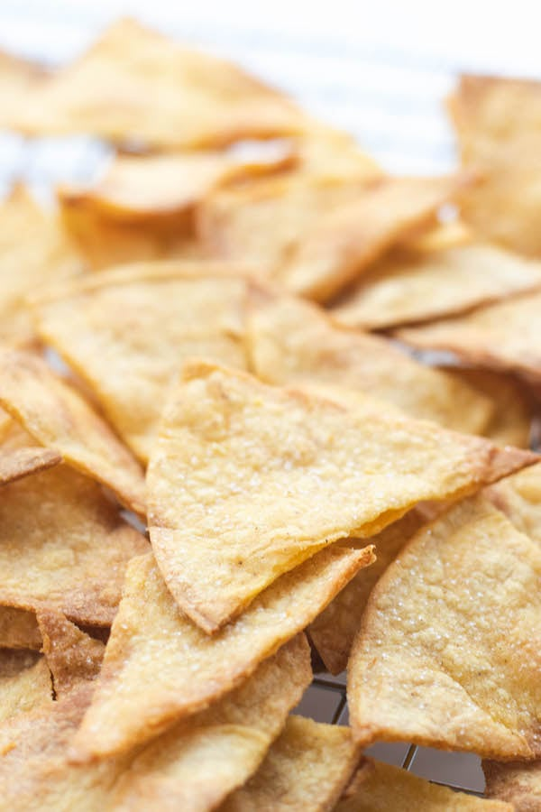 tortilla chips laying down