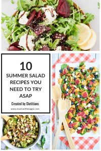 salads with text in the middle.