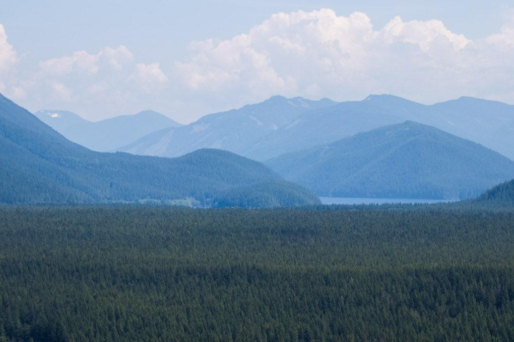 View of mountains in Seattle Washington.