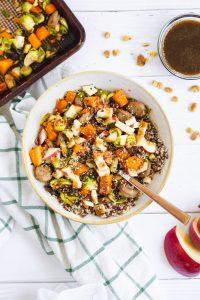A bowl filled with harvest vegetables