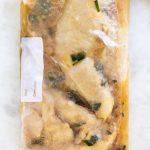 Chicken Marinade in a zip-lock bag.
