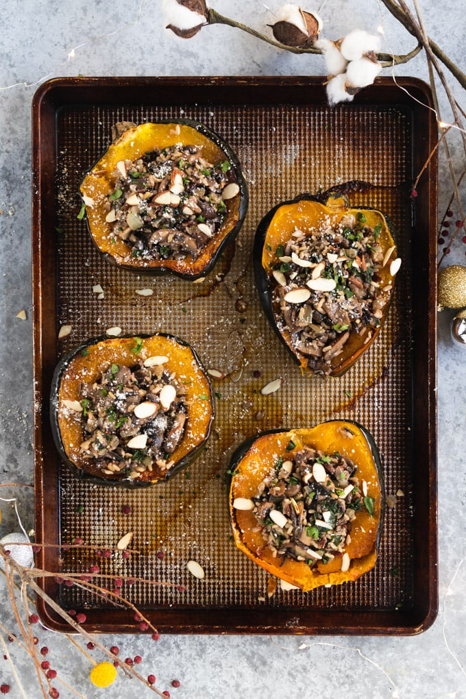 squash on a baking sheet.