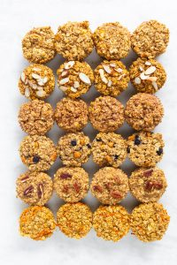 6 rows of healthy baked oatmeal cups