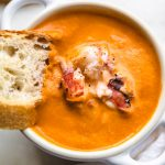 bread in lobster bisque