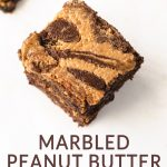 marbled brownies with text