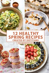 healthy spring recipes with text and pictures.