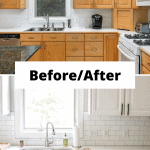 before and after of a kitchen remodel