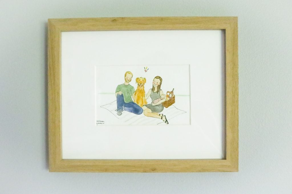 Picture frame of a family.