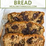 paleo zucchini bread with a fork