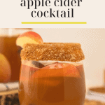 a glass lined with peanut butter and cinnamon brown sugar